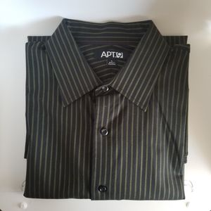 Apt. 9 Button Down Black/Green Shirt Sz L